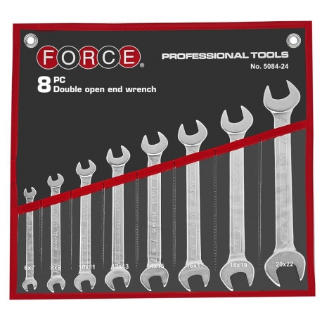 8pc Double Open End Wrench Set