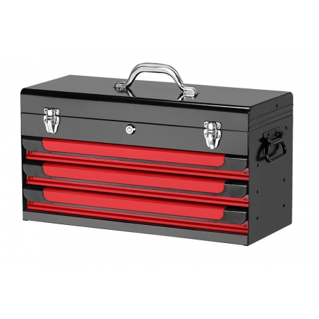 Glory Red & Black 3-drawer Top Chest