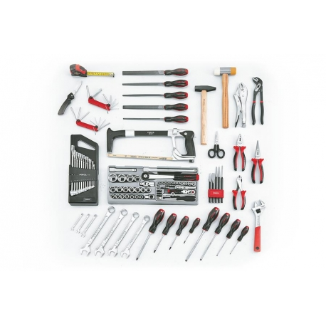 Tool Cabinet W/ 2 Drawers With 129 Pcs Of Tools